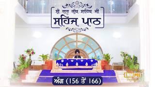 Angg 156 to 166 - Sehaj Pathh Shri Guru Granth Sahib | Bhai Ranjit Singh Dhadrianwale