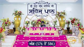 Angg  576 to 586 - Sehaj Pathh Shri Guru Granth Sahib | Bhai Ranjit Singh Dhadrianwale