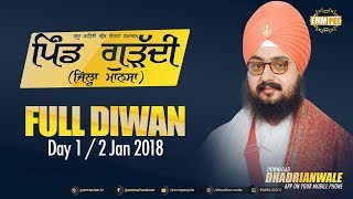 Full Diwan - Mansa - Day 1 - 2 Jan 2018 | DhadrianWale
