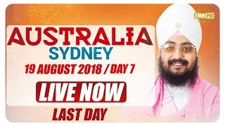 Day 7 on Australia Tour on 19Aug2018 | Bhai Ranjit Singh Dhadrianwale