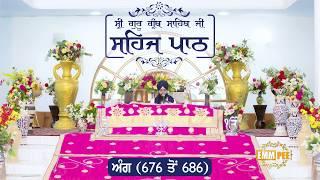 Angg  676 to 686 - Sehaj Pathh Shri Guru Granth Sahib Punjabi | Bhai Ranjit Singh Dhadrianwale