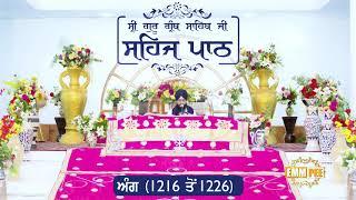 Angg  1216 to 1226 - Sehaj Pathh Shri Guru Granth Sahib Punjabi Punjabi | Bhai Ranjit Singh Dhadrianwale