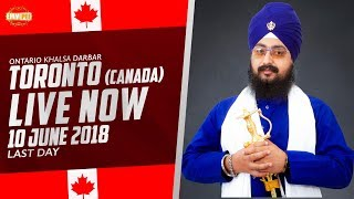 10 JUNE 2018 - LIVE STREAMING - Ontario Khalsa Darbar - Toronto - Canada | DhadrianWale