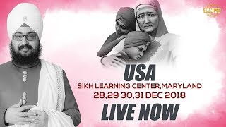 29 Dec2018 - Sikh Learning Center - Maryland - USA | Bhai Ranjit Singh Dhadrianwale