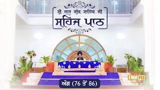 Sehaj Pathh Shri Guru Granth Sahib Angg 76 - 86 | Bhai Ranjit Singh Dhadrianwale