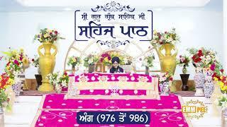 Angg  976 to 986 - Sehaj Pathh Shri Guru Granth Sahib Punjabi Punjabi | Bhai Ranjit Singh Dhadrianwale