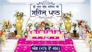 Angg  476 to 486 - Sehaj Pathh Shri Guru Granth Sahib | Dhadrian Wale