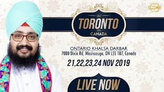 23Nov2019 Khalsa Darbar Ontario - Canada Diwan | Bhai Ranjit Singh Dhadrianwale